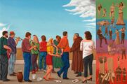 Oslava a světové události/Celebration and World Affairs, 2006-8, olej na plátně/oil on canvas, 80x120cm
