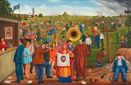 Nesení kříže/Bearing the Cross, 1994-2010, olej na plátně/oil on canvas, 130x200cm
